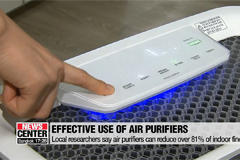 Air purifiers can reduce over 81% of fine dust indoors