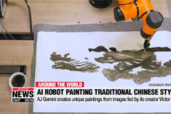 AI Robot paints its own moonsc