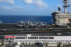 U.S. carries out aircraft carrier operations in Mediterranean Sea, seen as apparent message to Russia