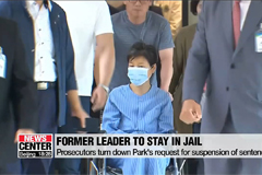 Prosecutors deny former President Park Geun-hye's request for suspension of sentence