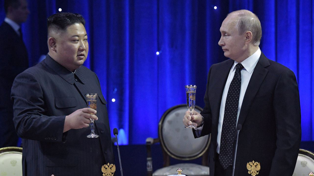 First-ever talks between Kim Jong-un and Vladimir Putin takes place in Vladivostok