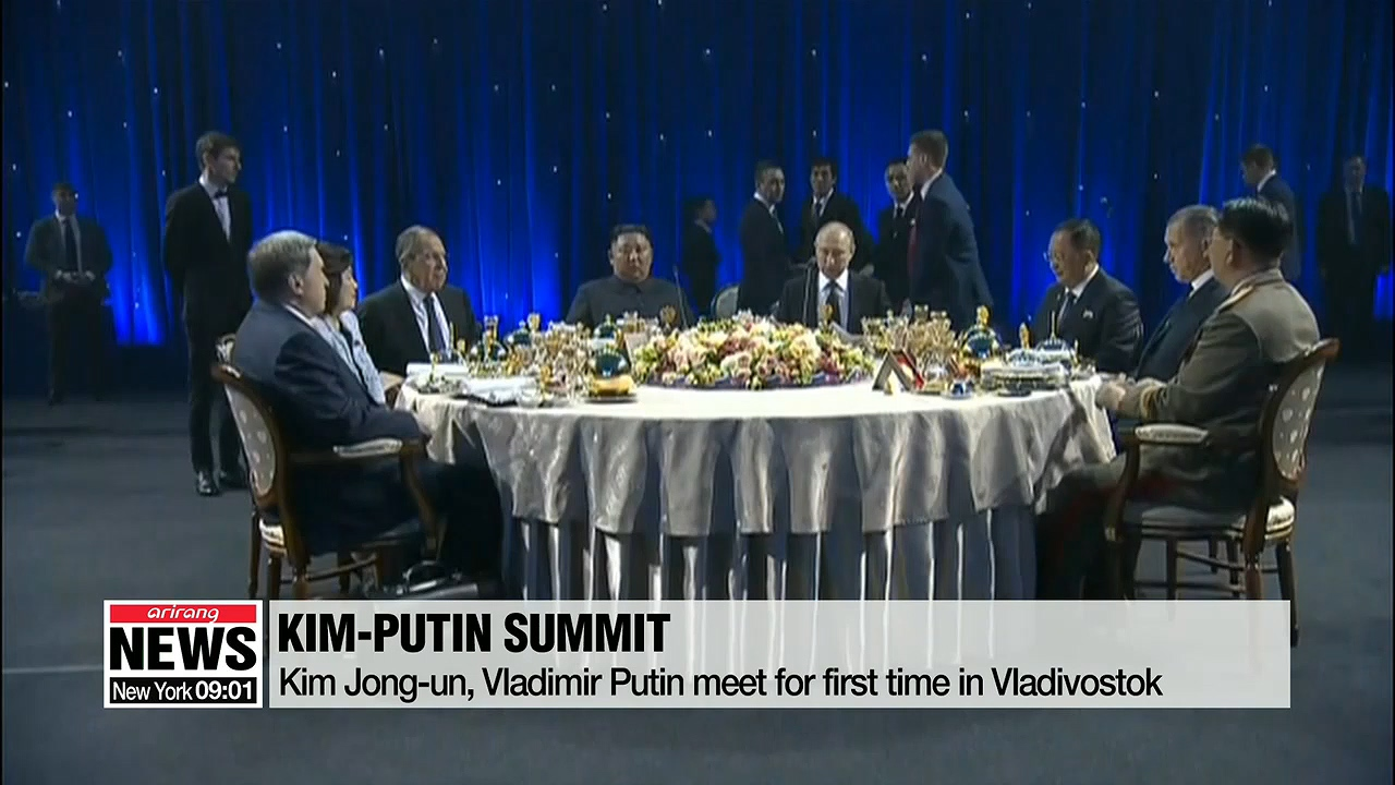 First-ever talks between Kim Jong-un, Vladimir Putin takes place in Vladivostok