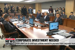 BOK chief Lee Ju-yeol says policies needed to promote more corporate investment