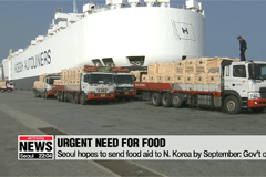 Seoul hopes to send food aid to N. Korea by September: Gov't official