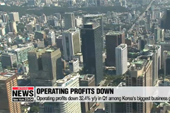 Operating profits down 32.4% y/y in Q1 among 59 large business groups in Korea: Data