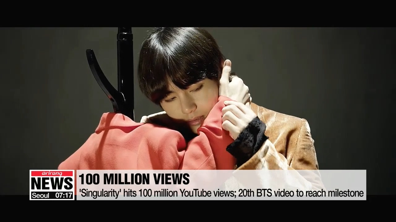 BTS's 'Singularity' MV becomes 20th BTS video to hit 100 million YouTube views