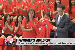 S. Korean women's football team gather support ahead of World Cup
