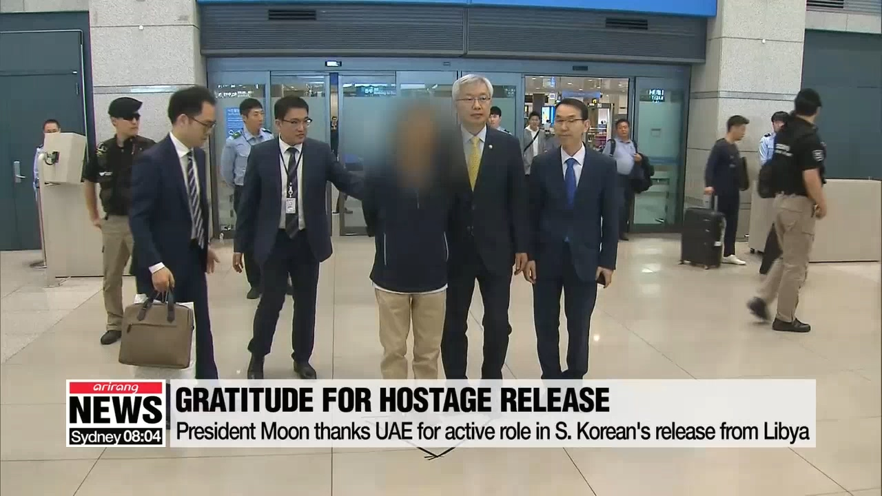 President Moon thanks UAE for active role in S. Korean's release from Libya