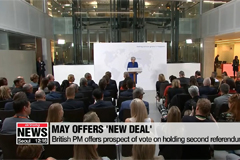 May offers 'new deal' to try to break Brexit deadlock