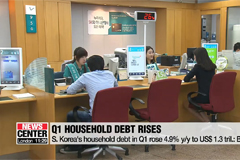 S. Korea's household credit in Q1 records US$ 1.3 tril., up 4.9% y/y: BOK