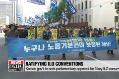 Korean gov't to seek parliamentary approval for 3 key ILO conventions