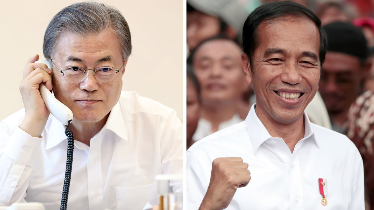 Moon congratulates his Indonesian counterpart for winning re-election