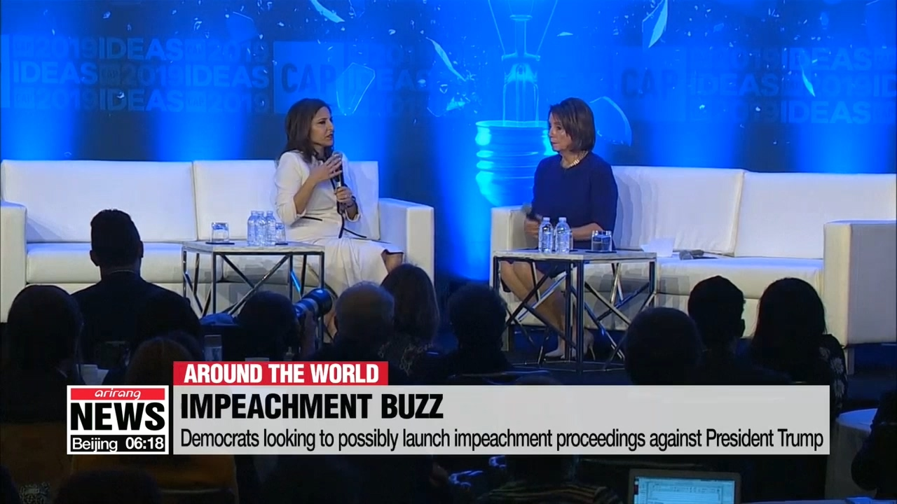 Trump battles with Democrats as impeachment chatter grows