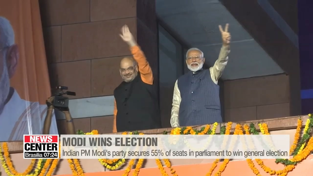 Indian PM Modi wins landslide re-election