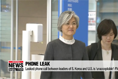 Leaked phone call between leaders of S. Korea and U.S. is