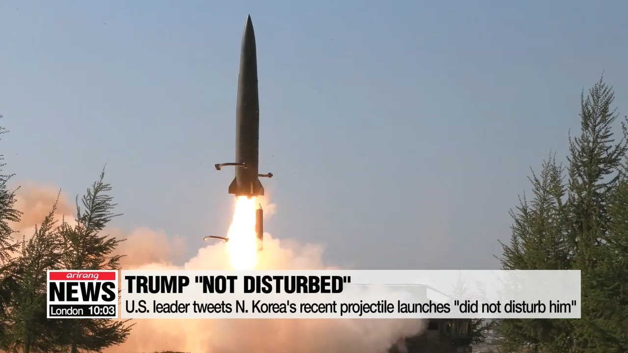 Trump 'not disturbed' by N. Korea's recent firing of 'some small weapons'