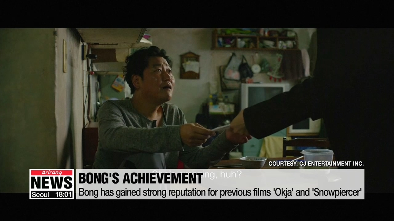 S. Korean film director Bong Joon-ho's 'Parasite' grabs Palme d'Or at Cannes