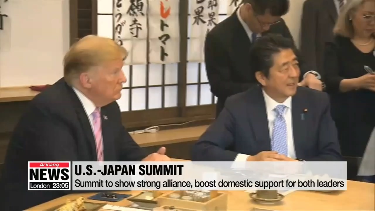 Trump, Abe show off friendship through golf and sumo
