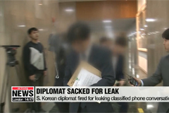 S. Korean diplomat sacked for leaking classified phone conversation