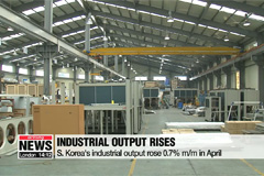 S. Korea's industrial output rose for 2nd straight month in April