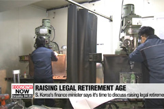 S. Korea's finance minister says it's time to discuss raising legal retirement age