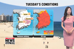 Sizzling summer heat under mostly sunny skies