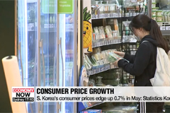 S. Korea's consumer prices edge up 0.7% in May