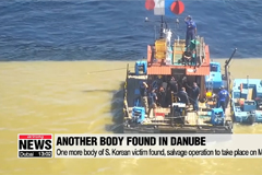 Another body of S. Korean found in Danube, Salvage operation of boat sinking to take place on Monday