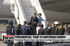 Moon's eight day trip to Northern Europe begins in Finland