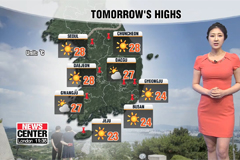 Daytime highs to get hotter tomorrow