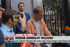 Russian journalist released after police drop 'drug charges' amid sharp backlash
