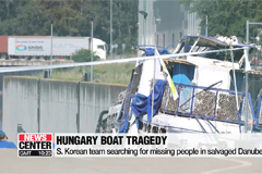 S. Korean team searching for missing people in salvaged Danube boat
