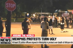 At least 25 police officers injured in Memphis in protest over death of African-American man