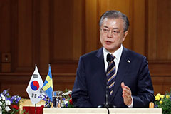 Pres. Moon calls on N. Korea to make practical steps for denuclearization
