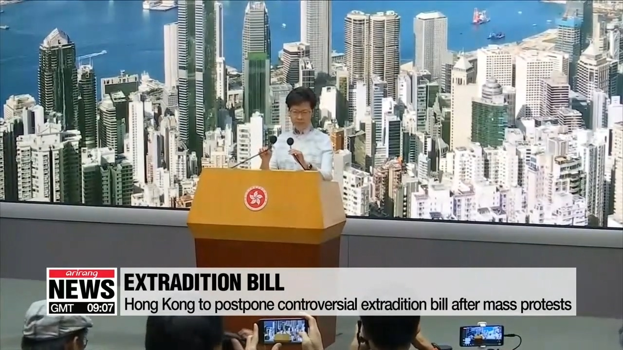 Hong Kong to postpone controversial extradition bill after mass protests