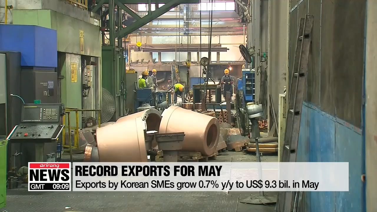 Korean small and mid-sized firms' exports grow 0.7% y/y, highest figure for May