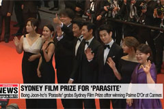 Bong Joon-ho's 'Parasite' grabs Sydney Film Prize after winning Palme D'Or at Cannes