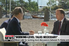 Moon says working-level talks