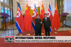 International media outlets focus on announcement of Xi Jinping's visit to N. Korea