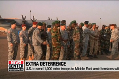 U.S. to dispatch 1,000 extra troops to Middle East to counter 'hostile Iranian behavior'