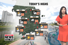 Passing showers with warmer highs
