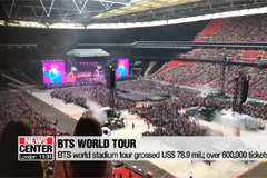 BTS world stadium tour grossed