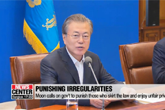 Pres. Moon calls on gov't to c