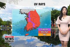 Scorching summer sun, extreme UV rays... passing showers in inland regions