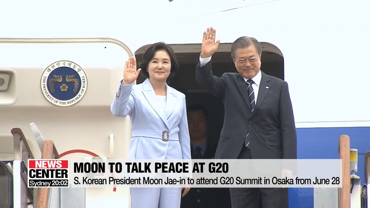 Moon to highlight circle of peace and economy during G20 Summit; no Korea-Japan summit scheduled