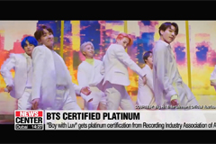 BTS' 'Boy With Luv' gets RIAA platinum certification