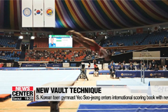 S. Korean teen gymnast Yeo Seo-jeong enters international scoring book with new vault