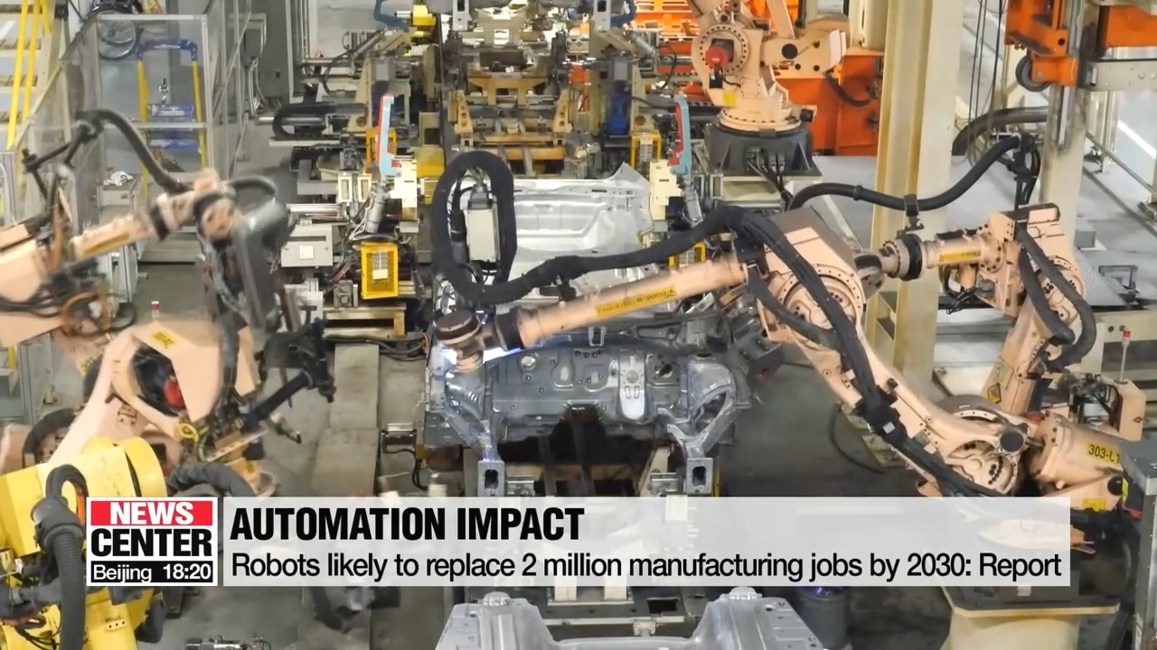 Robots likely to replace 2 million manufacturing jobs by 2030: Report
