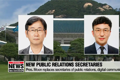 Pres. Moon replaces senior secretaries for public communications