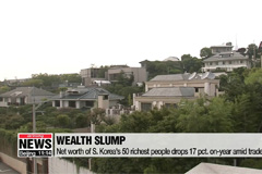 Net worth of S. Korea's 50 richest people drops 17 pct. on-year amid trade woes